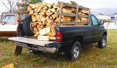 pick up truck load of wood smal