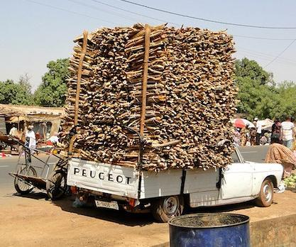 truck load of wood