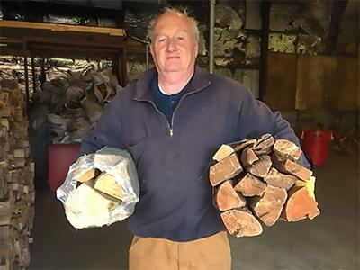 Paul with bundles gas station vs boston firewood bundle small